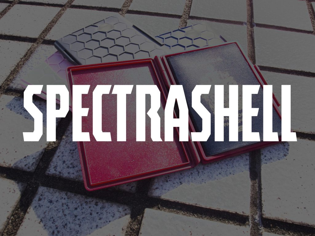 Spectrashell typeface sample from Typodermic Fonts Inc.