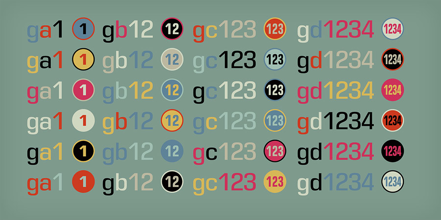 Numbers with Rings from Typodermic Fonts